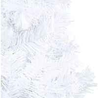 vidaXL Artificial Christmas Tree with Thick Branches White 180 cm PVC - White