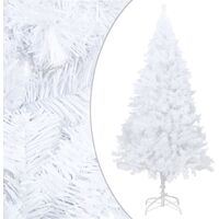 vidaXL Artificial Christmas Tree with Thick Branches White 210 cm PVC - White