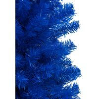 vidaXL Artificial Christmas Tree with Stand Blue 180 cm PVC - Blue