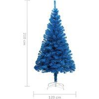 vidaXL Artificial Christmas Tree with Stand Blue 210 cm PVC - Blue