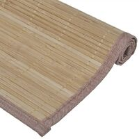 6 Bamboo Placemats 30 x 45 cm Brown - Brown