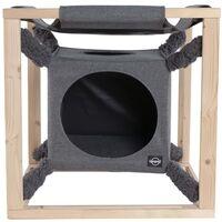 Quapas! Cat Bed with Hammock Catcube Grey M 54x54x54 cm - Grey