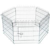 Beeztees Rabbit Garden Cage 60x60 cm Metal - Silver