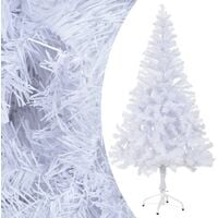vidaXL Artificial Christmas Tree with Stand 150 cm 380 Branches - White