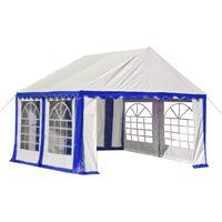 vidaXL Garden Marquee PVC 3x4 m Blue and White - Blue
