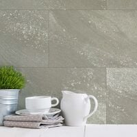 Grosfillex Wallcovering Tile Gx Wall+ 11pcs Stone 30x60cm Greige - Grey