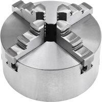 vidaXL 4 Jaw Self-Centering Lathe Chuck 125 mm Steel