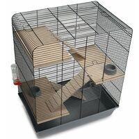 Beeztees Pet Rodent Cage Gordy Black 58x38x71cm Metal