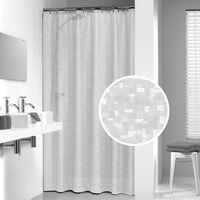 Sealskin Shower Curtain Perle 180 cm Transparent 210881300 - Grey