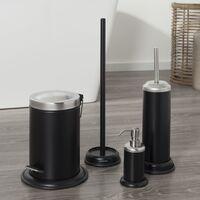 Sealskin Pedal Trash Bin Acero Black 3 L 361732419 - Black