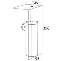 Tiger Toilet Brush and Holder Boston Chrome 309930346 - Silver