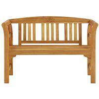 vidaXL Garden Bench Solid Acacia Wood 120 cm - Brown