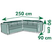Nature Garden Furniture Cover for L-shaped longers 250x90x90 cm - Grey