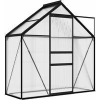 vidaXL Greenhouse Anthracite Aluminium 1.33 m² - Anthracite