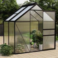 vidaXL Greenhouse Anthracite Aluminium 2.47 m² - Anthracite