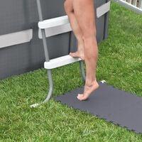 Intex Interlocking Padded Floor Protector 8 pcs 50x50x0.5 cm 1.9 m² - Grey