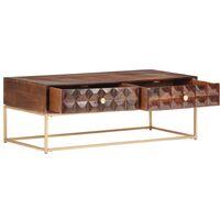 323405 vidaXL Coffee Table 112x50x40 cm Solid Mango Wood - Brown