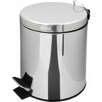 RIDDER Waste Basket Timon 3 L Chrome - Silver