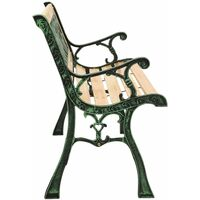 vidaXL Garden Bench 122 cm Cast Iron and Solid Firwood - Brown