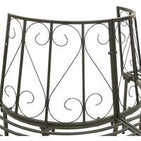 vidaXL Garden Half Round Tree Bench 160 cm Steel - Grey