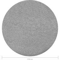 vidaXL Artificial Grass with Studs Dia.170 cm Grey Round - Grey