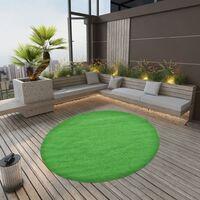 vidaXL Artificial Grass with Studs Dia.170 cm Green Round - Green