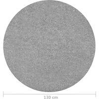 vidaXL Artificial Grass with Studs Dia.130 cm Grey Round - Grey