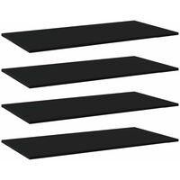 vidaXL Bookshelf Boards 4 pcs Black 80x30x1.5 cm Chipboard - Black