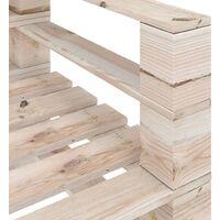 vidaXL 6 Piece Garden Pallet Lounge Set Pinewood - Beige