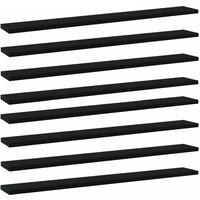 vidaXL Bookshelf Boards 8 pcs Black 80x10x1.5 cm Chipboard - Black