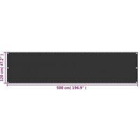 vidaXL Balcony Screen HDPE 120x500 cm Anthracite - Anthracite