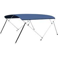 vidaXL 4 Bow Bimini Top Navy Blue 243x(230-244)x137 cm