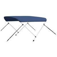 vidaXL 2 Bow Bimini Top Navy Blue 180x130x110 cm