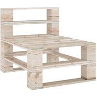 vidaXL Garden Pallet Middle Sofa Impregnated Pinewood - Brown