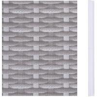 vidaXL Garden Privacy Screen PVC 35x0.19 m Rattan Grey - Grey