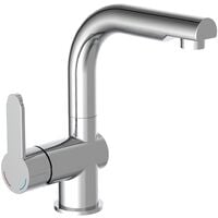 SCHÜTTE Basin Mixer with Pull-Out Spray LONDON Chrome - Silver