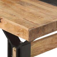 vidaXL Dining Table 180x90x76 cm Rough Mango Wood - Brown