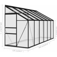 vidaXL Greenhouse Anthracite Aluminium 7.77 m³ - Anthracite