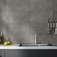 Grosfillex Wallcovering Tile Gx Wall+ 11pcs Marble 30x60 cm Grey - Grey