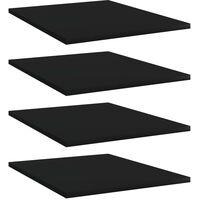 vidaXL Bookshelf Boards 4 pcs Black 40x50x1.5 cm Chipboard - Black