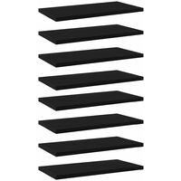 vidaXL Bookshelf Boards 8 pcs Black 40x20x1.5 cm Chipboard - Black