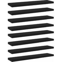 vidaXL Bookshelf Boards 8 pcs Black 40x10x1.5 cm Chipboard - Black