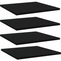 vidaXL Bookshelf Boards 4 pcs Black 40x40x1.5 cm Chipboard - Black