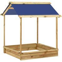 vidaXL Outdoor Playhouse with Sandpit 128x120x145 cm Pinewood - Brown