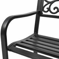 vidaXL Garden Bench 127 cm Cast Iron Black - Black