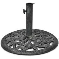 vidaXL Umbrella Base Cast Iron 12 kg 48 cm - Green