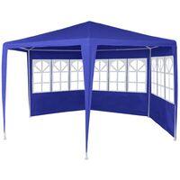 vidaXL Marquee with 6 Side Walls 2x2 m Blue - Blue