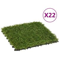 vidaXL Artificial Grass Tiles 22 pcs Green 30x30 cm - Green