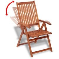 vidaXL Folding Garden Chairs 2 pcs Solid Acacia Wood Brown - Brown