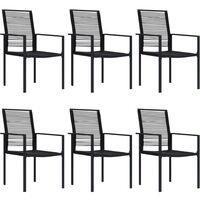vidaXL 7 Piece Garden Dining Set - Black